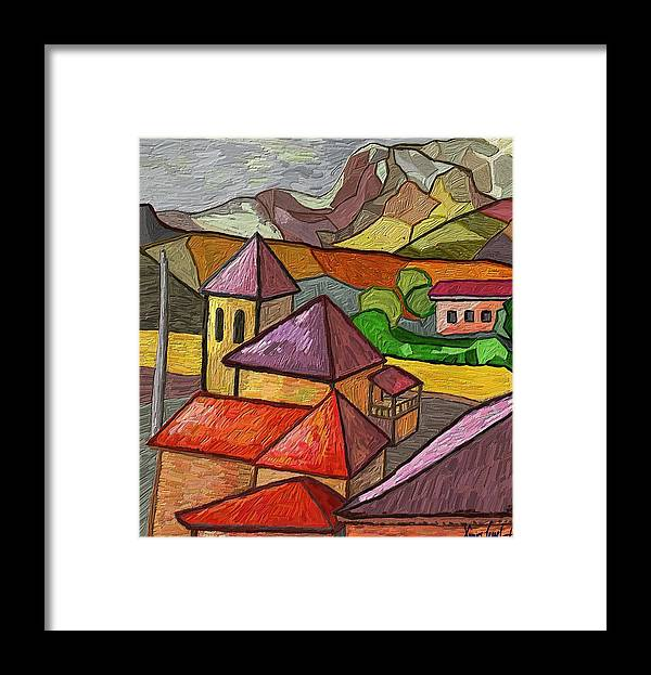 Figurative Framed Print featuring the painting Taulades by Xavier Ferrer
