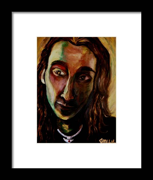 Portrait Framed Print featuring the painting Tavo by Jenni Walford