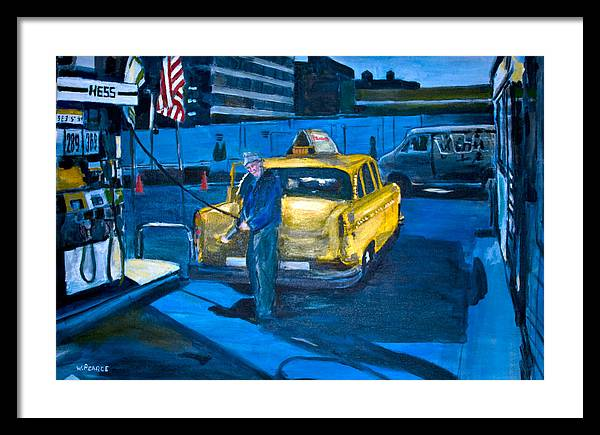 New York City Paintings Framed Print featuring the painting Taxi by Wayne Pearce