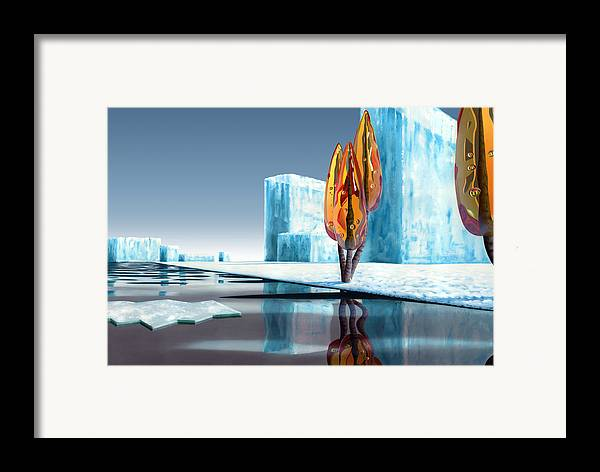 Architecture Framed Print featuring the painting Taxus Glacialis by Patricia Van Lubeck