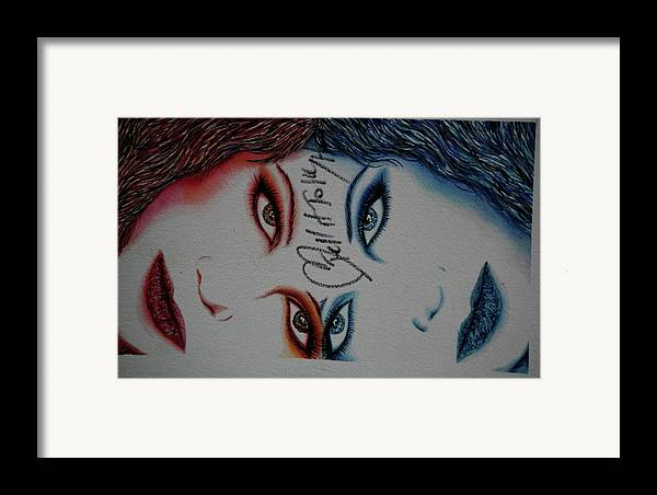 Actress Framed Print featuring the mixed media Taylor's Heart by Joseph Lawrence Vasile
