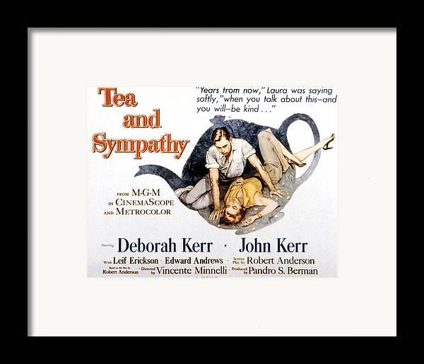 1950s Poster Art Framed Print featuring the photograph Tea And Sympathy, John Kerr, Deborah by Everett