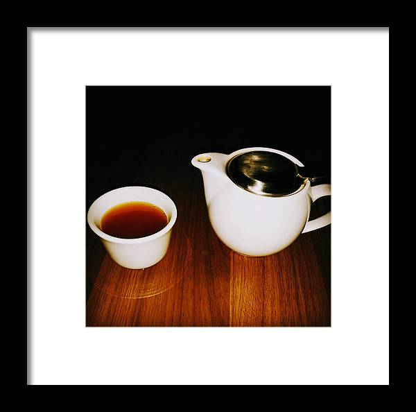 Tea Lovers Framed Print featuring the pyrography Tea-juana by Albab Ahmed