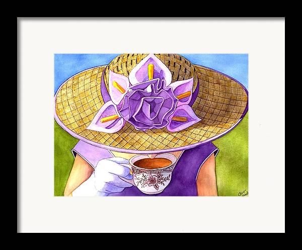 Tea Framed Print featuring the painting Tea Party by Catherine G McElroy