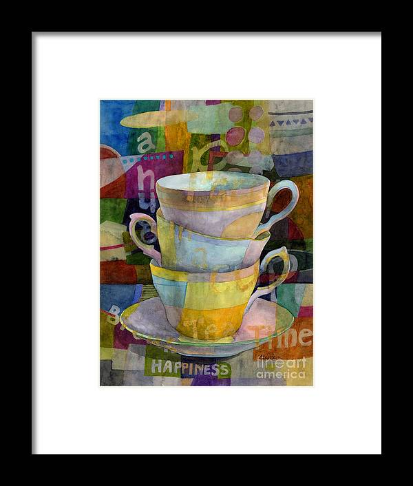 Tea Time Framed Print featuring the painting Tea Time by Hailey E Herrera