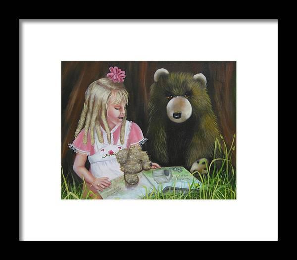 Children Framed Print featuring the painting Teacher by Joni McPherson
