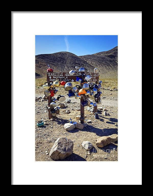 California Framed Print featuring the photograph Teakettle Junction by Greg Clure