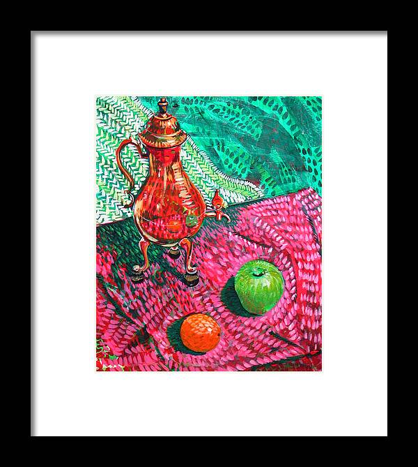Still Life Framed Print featuring the painting Teapot by Rollin Kocsis