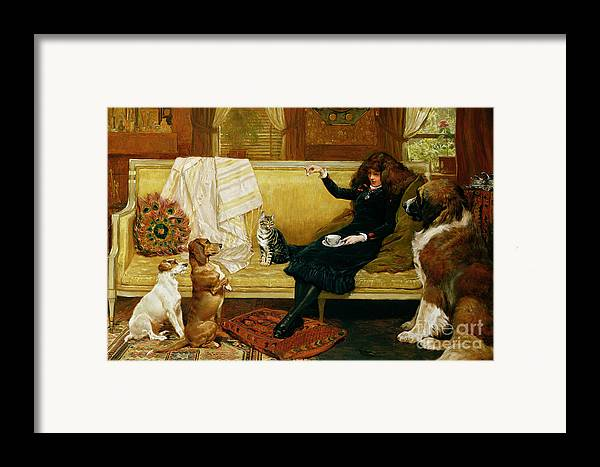 Teatime Framed Print featuring the painting Teatime Treat by John Charlton