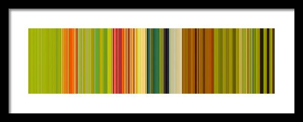 Stripes Framed Print featuring the digital art Technicolor Dreams by Michelle Calkins