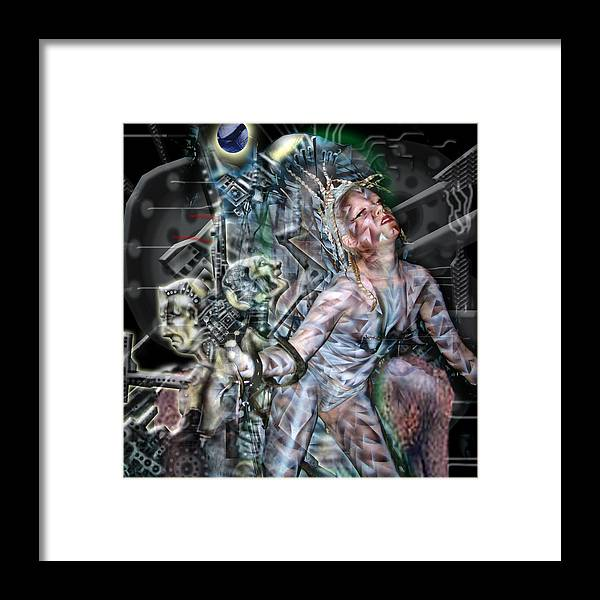 Surreal Framed Print featuring the photograph Technological Re-birth by Leigh Odom
