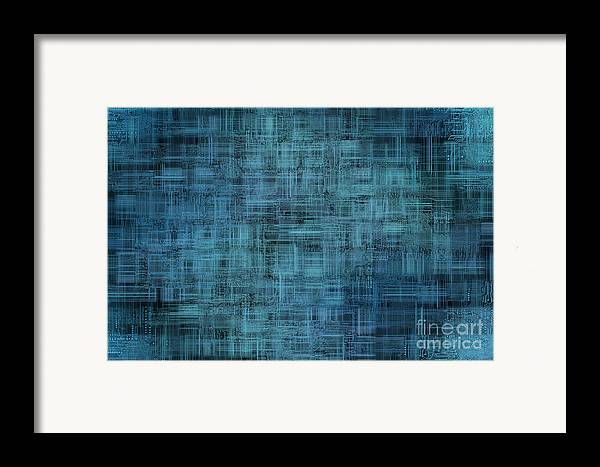 Printed Framed Print featuring the digital art Technology Abstract Background by Michal Boubin
