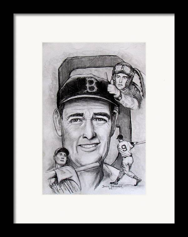 Baseball Framed Print featuring the photograph Ted by Jack Skinner