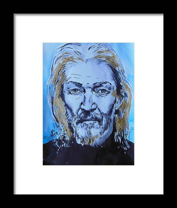 Ted Neeley Framed Print featuring the painting Ted Neeley by Lucia Hoogervorst