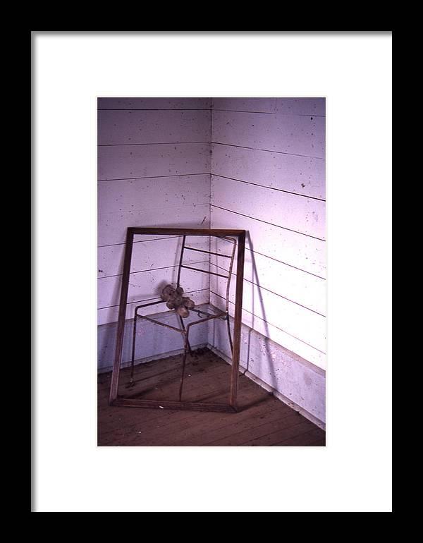 Framed Print featuring the photograph Teddy-bear Chair Corner by Curtis J Neeley Jr
