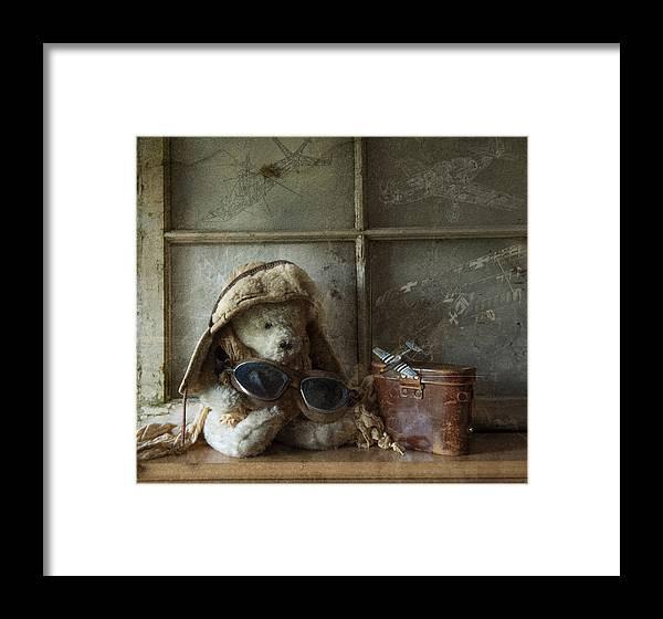 Teddy Bear Framed Print featuring the photograph Teddy Fly Boy by Nichon Thorstrom