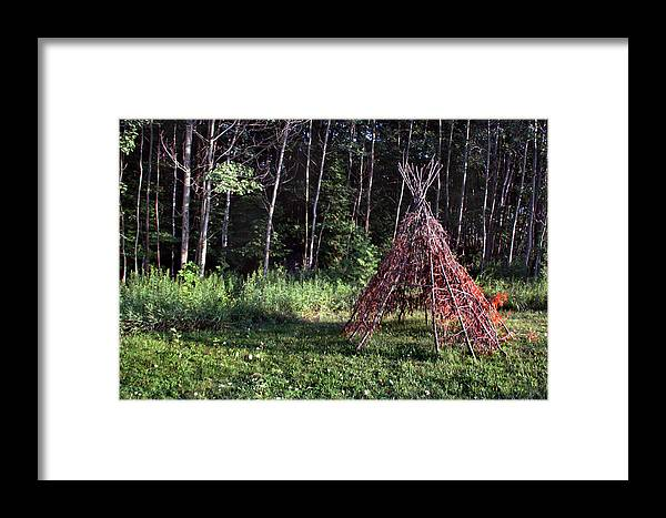 Tee Pee Framed Print featuring the photograph Tee Pee by Joanne Coyle