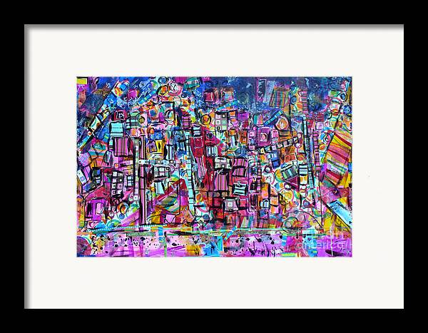 Tel Aviv Framed Print featuring the mixed media Tel Aviv by Joyce Goldin