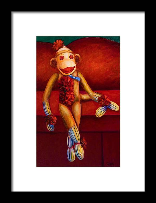 Children Framed Print featuring the painting Tell Me All About It by Shannon Grissom