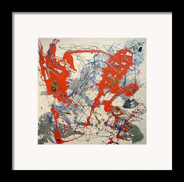 Abstract Framed Print featuring the painting Temperatio by Irma Hinghofer-Szalkay