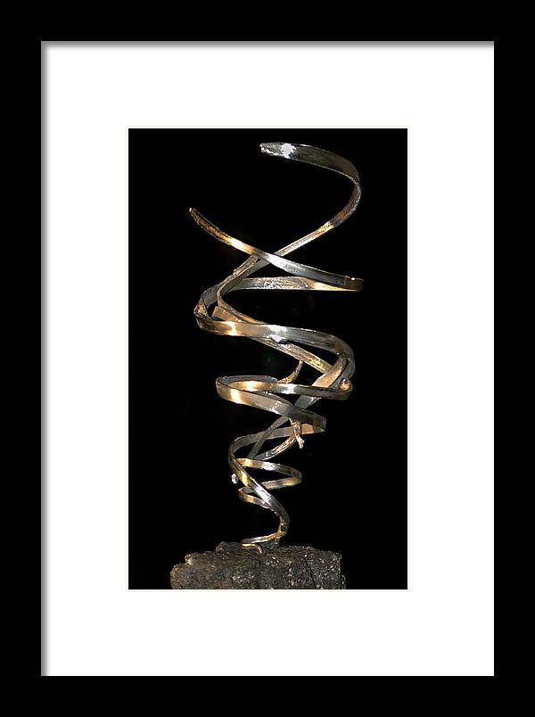 Abstract Framed Print featuring the sculpture Tempest by David Rivas