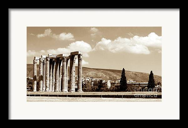 Temple Of Zeus Framed Print featuring the photograph Temple Of Zeus by John Rizzuto