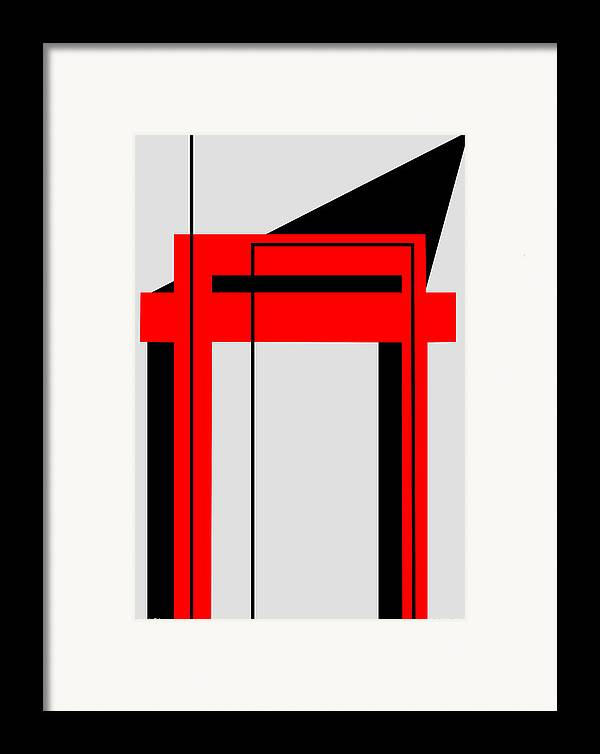 Temple Framed Print featuring the digital art Temple Portal Tokyo Japan by Asbjorn Lonvig