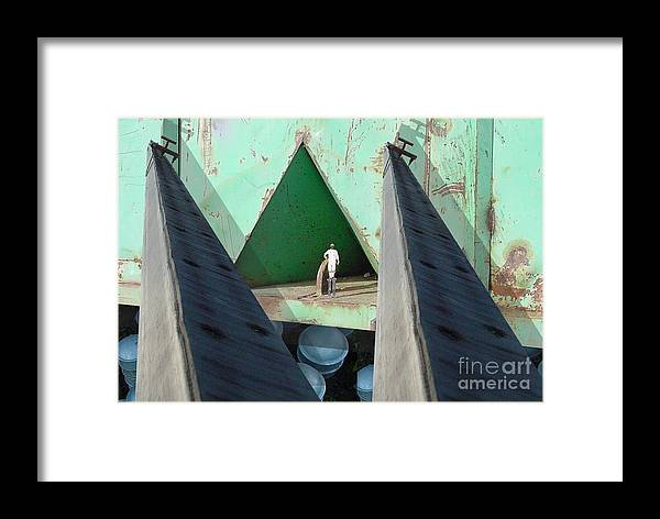 Abstract Framed Print featuring the digital art Temple by Ron Bissett