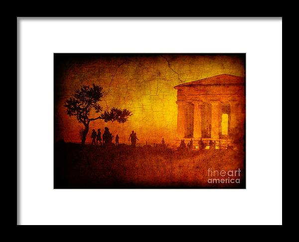 Temple Framed Print featuring the photograph Temple by Silvia Ganora