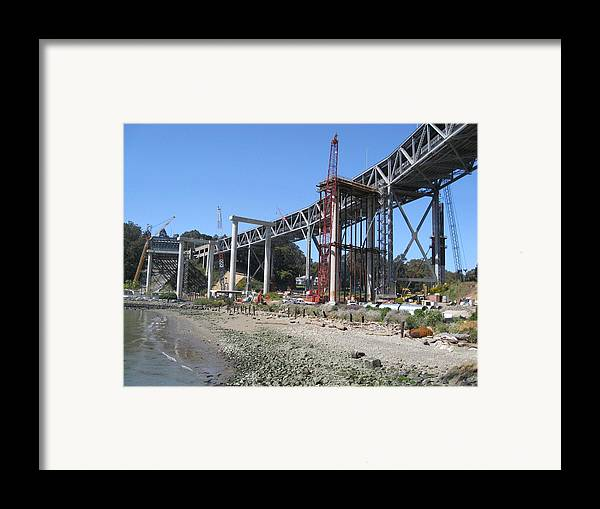 Water Framed Print featuring the photograph Temporary Structure by Jerry Patchin