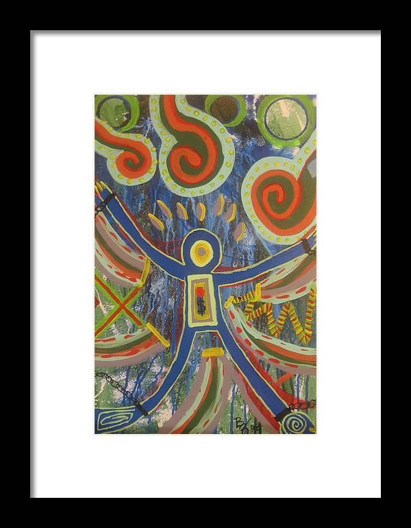 Abstract Painting Framed Print featuring the painting Temptation by Bryan Zingmark