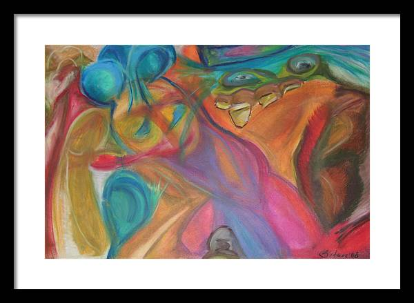 Framed Print featuring the pastel Temptation by Sitara Bruns