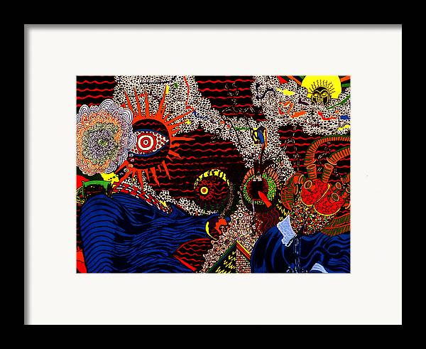 Abstract Framed Print featuring the print Temptation by William Watson