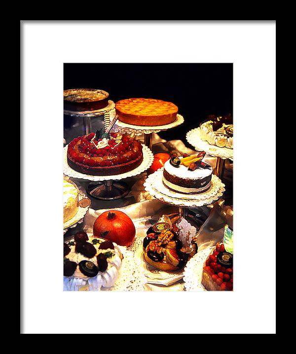 Abstract Framed Print featuring the photograph Tempting Treats...untitled by Linda Parker