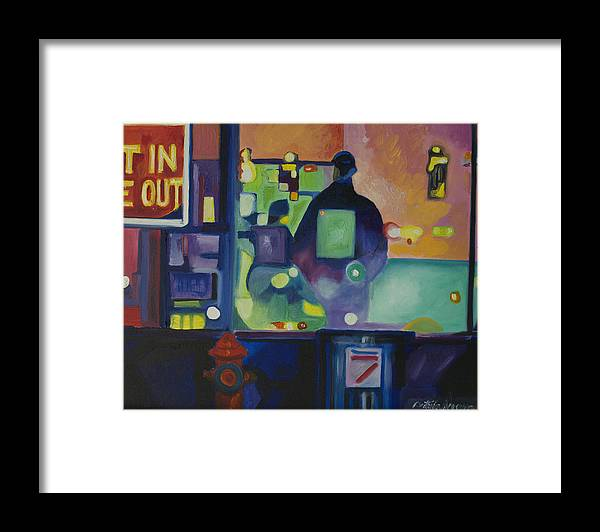 Abstract Framed Print featuring the painting Ten Minutes by Patricia Arroyo