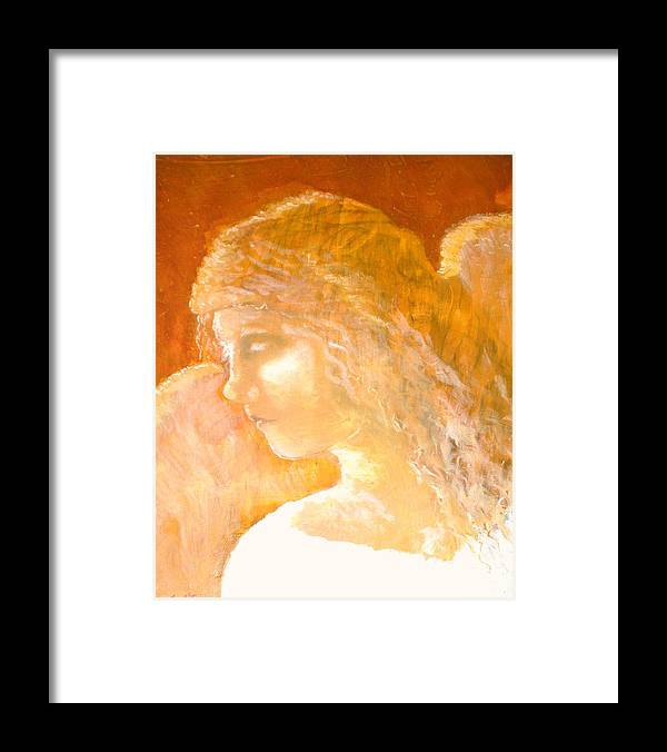 Angel Framed Print featuring the painting Tender Mercy by J Bauer