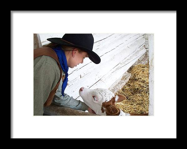 Calves Framed Print featuring the photograph Tender Moment by FeVa Fotos