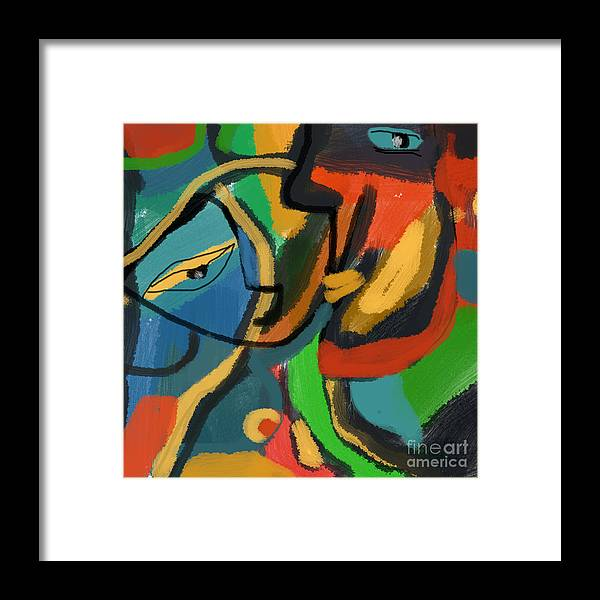 Figurative Framed Print featuring the digital art Tender Whispering by Aliza Souleyeva-Alexander