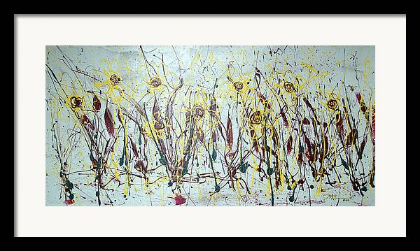 Flowers Framed Print featuring the painting Tending My Garden by J R Seymour