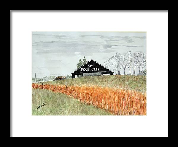 Barns Framed Print featuring the painting Tennessee Destination by Larry Wright