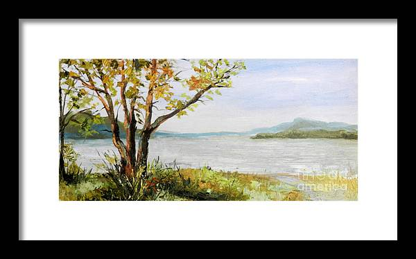 Tennessee Framed Print featuring the painting Tennessee River In The Fall by Kimberly Daniel