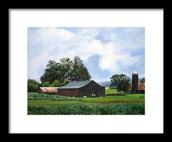 Farm Framed Print featuring the painting Tennessee Sky by William Brody