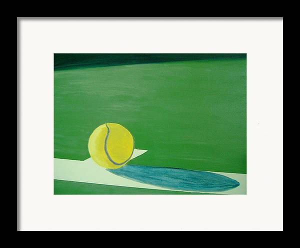 Tennis Framed Print featuring the painting Tennis Reflections by Ken Pursley