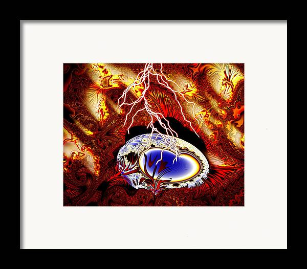 Earth Framed Print featuring the digital art Terra Ovum One by Roger Soule