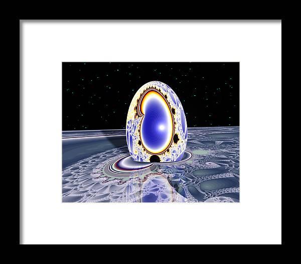 Framed Print featuring the digital art Terra Ovum Two by Roger Soule