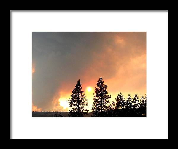 Forest Fire Framed Print featuring the photograph Terrace Mountain Fire 2 by Will Borden