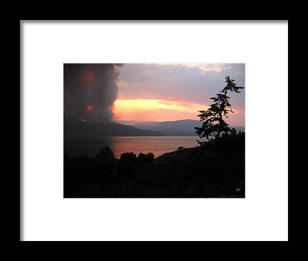 Forest Fire Framed Print featuring the photograph Terrace Mountain Fire 4 by Will Borden
