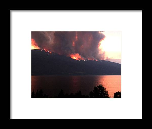 Forest Fire Framed Print featuring the photograph Terrace Mountain Fire 5 by Will Borden