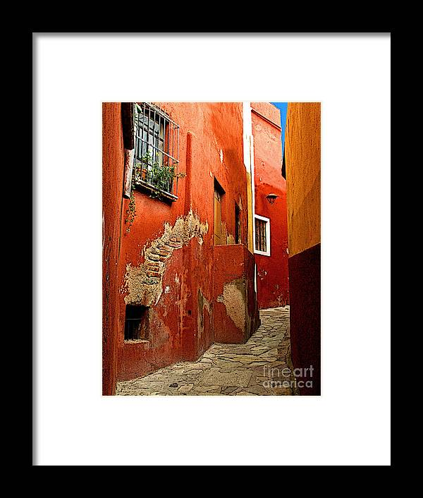 Darian Day Framed Print featuring the photograph Terracotta Alley by Mexicolors Art Photography