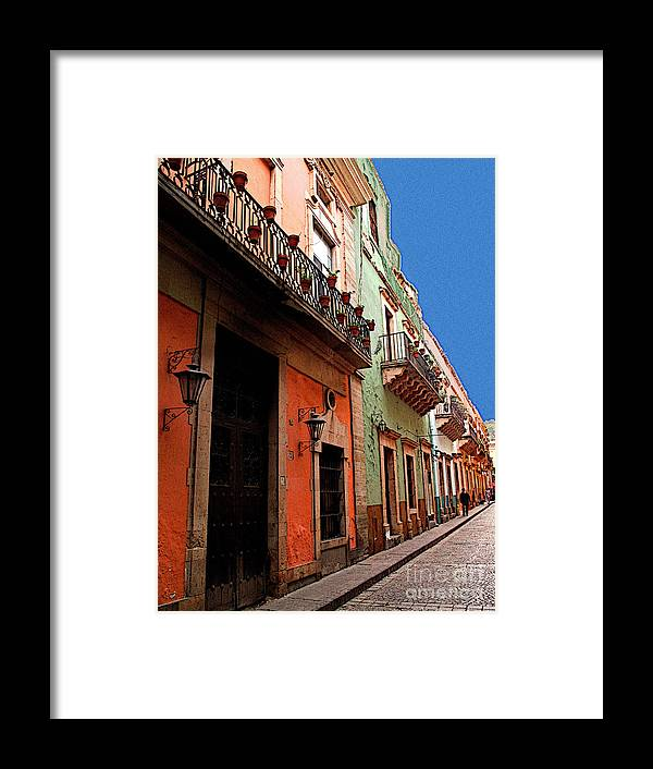 Darian Day Framed Print featuring the photograph Terracotta And Mint by Mexicolors Art Photography